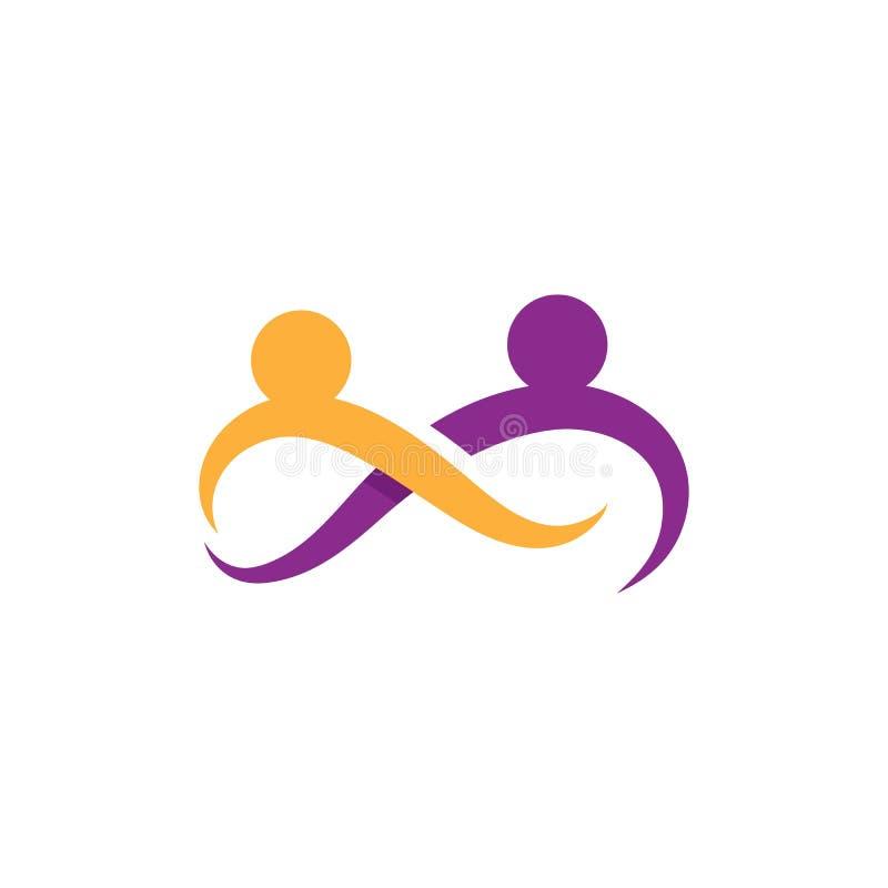 A comunidade, rede e ?cone social ilustração royalty free