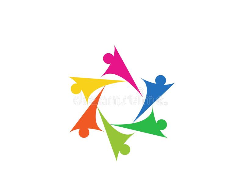 A comunidade, rede e ?cone social ilustração stock