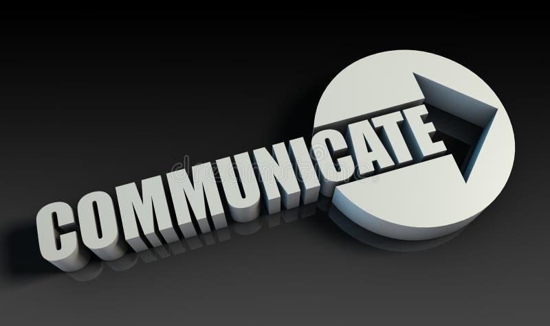 Comunique-se ilustração do vetor