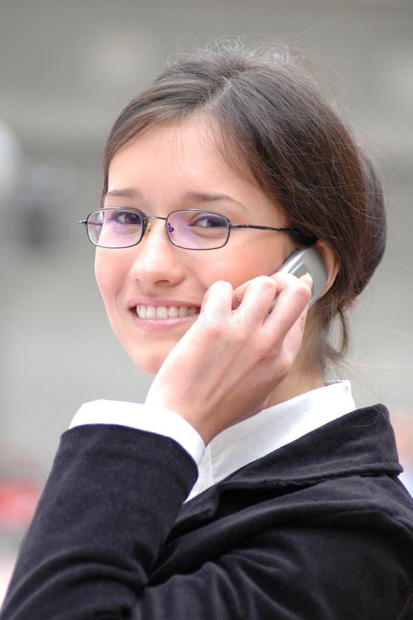 Comunique-se com um sorriso fotografia de stock royalty free