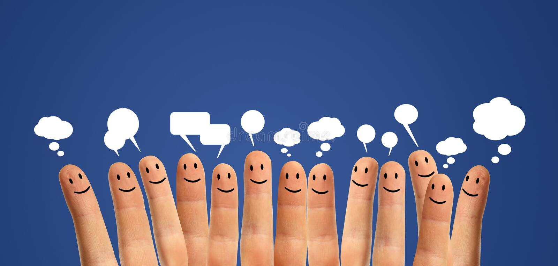 Comunique smiley do dedo imagem de stock royalty free