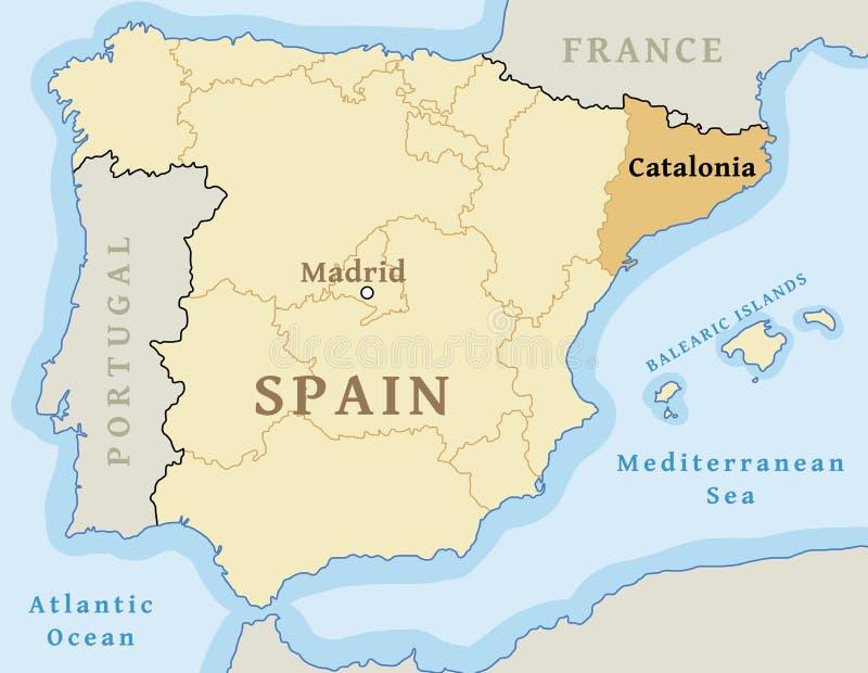 Comunità autonoma della Catalogna royalty illustrazione gratis