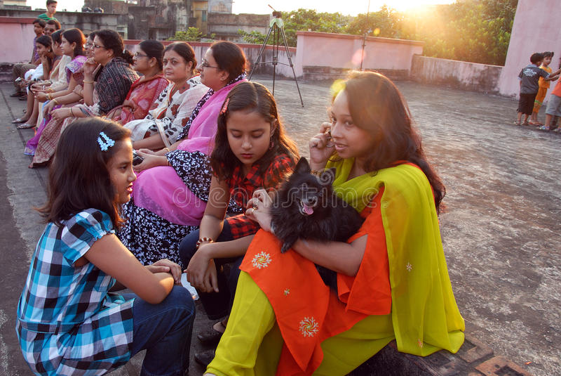 Comunità del bengalese a Kolkata fotografia stock