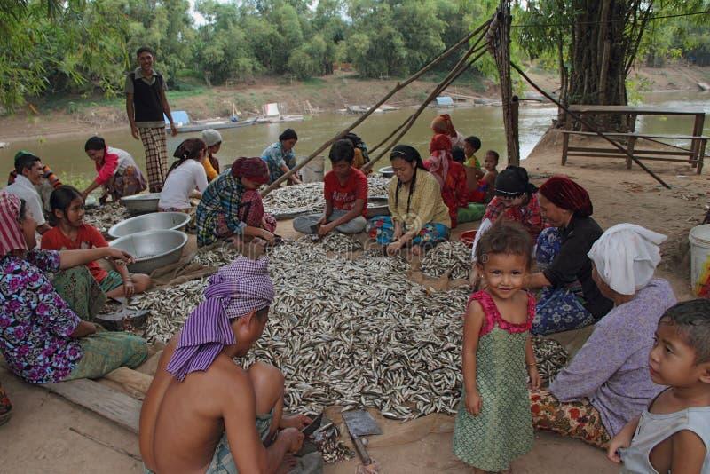 Comunità del Cham che fa i pesci SOS fotografie stock libere da diritti