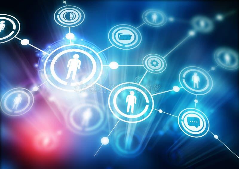 Comunità della rete immagini stock libere da diritti