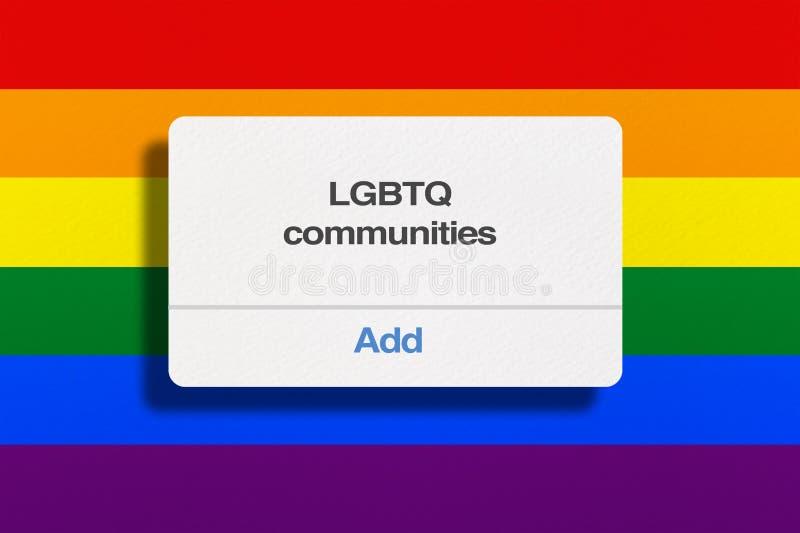 Comunità di LGBTQ immagini stock libere da diritti