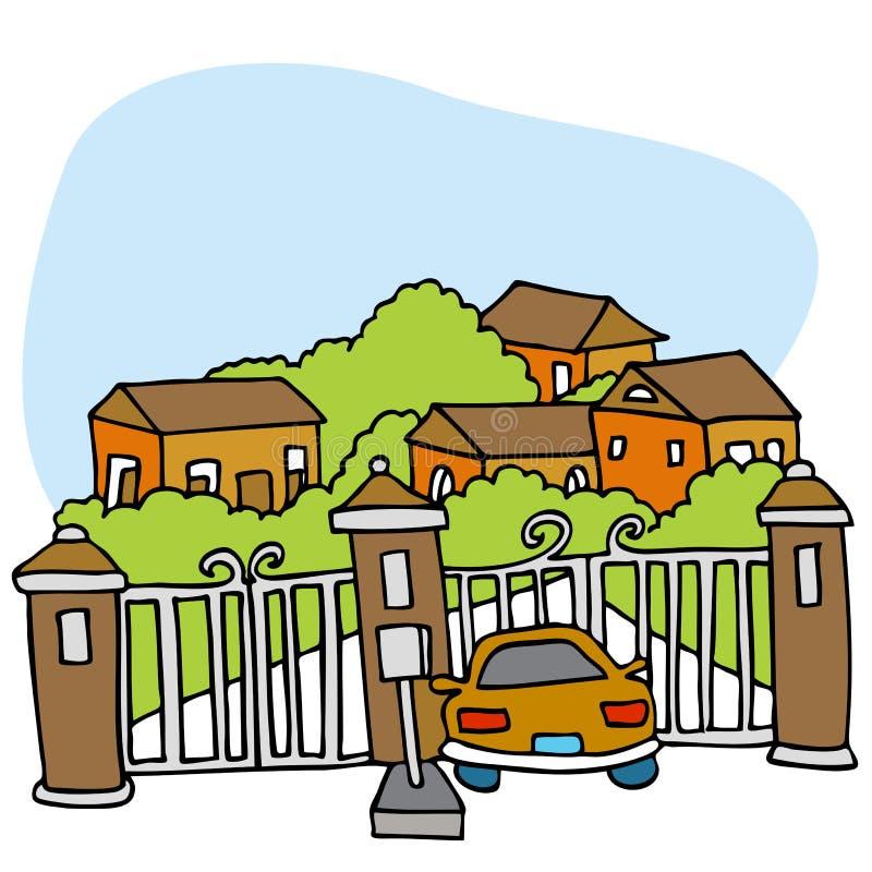 Comunità Gated illustrazione di stock