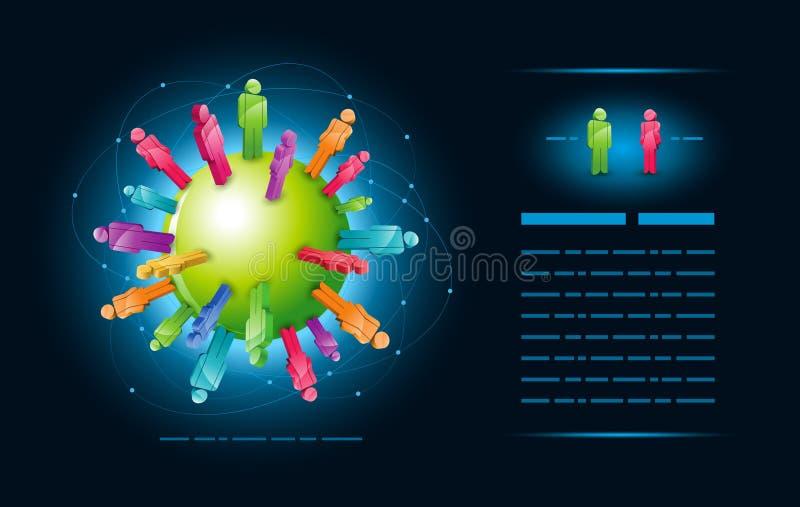 Comunità globale illustrazione di stock