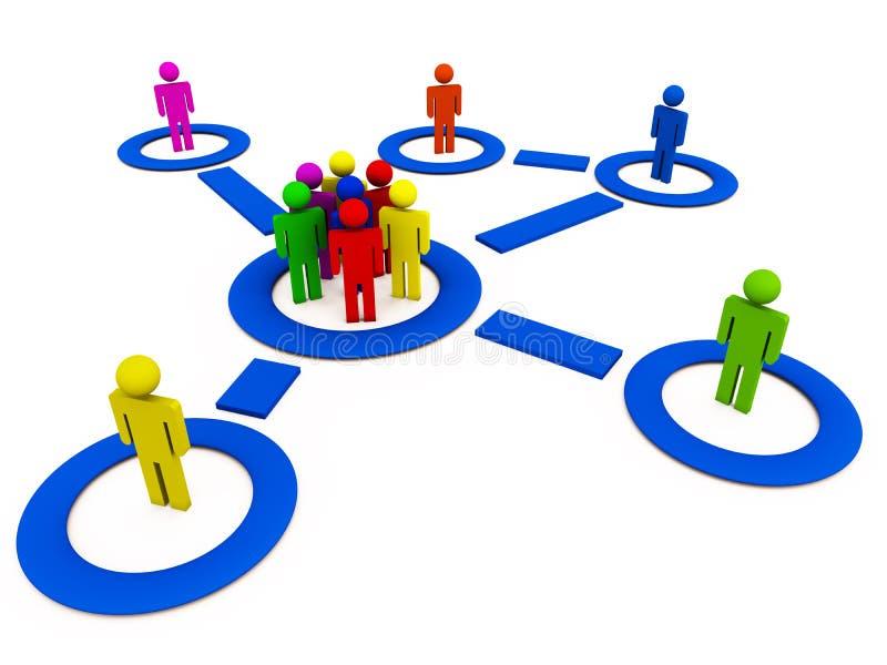 Comunità sociale della rete royalty illustrazione gratis