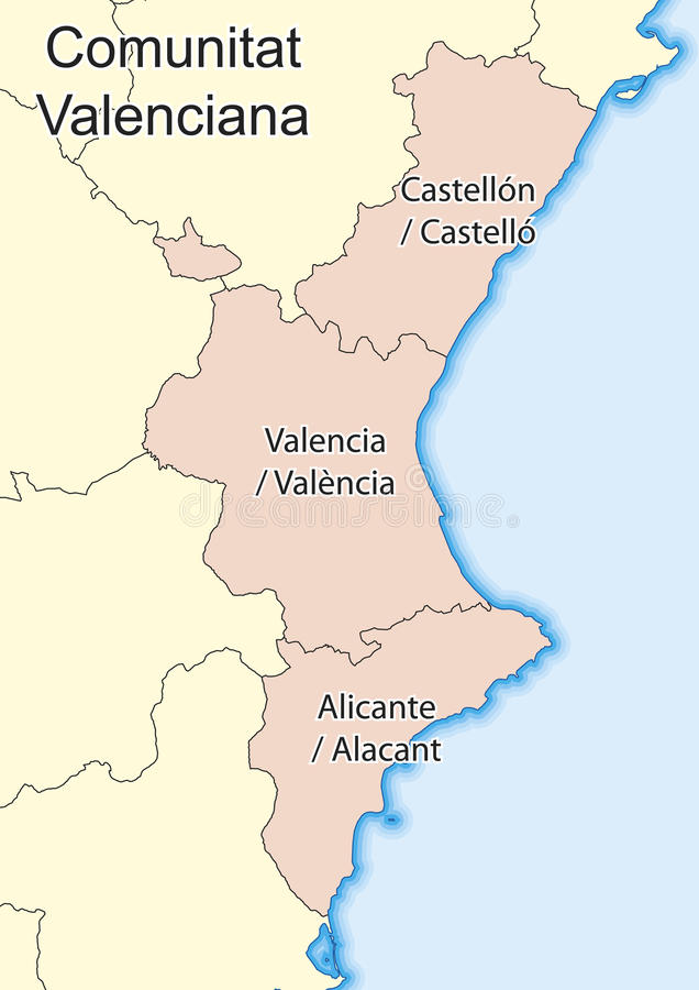 Comunitat Valenciana stock illustration Illustration of outline