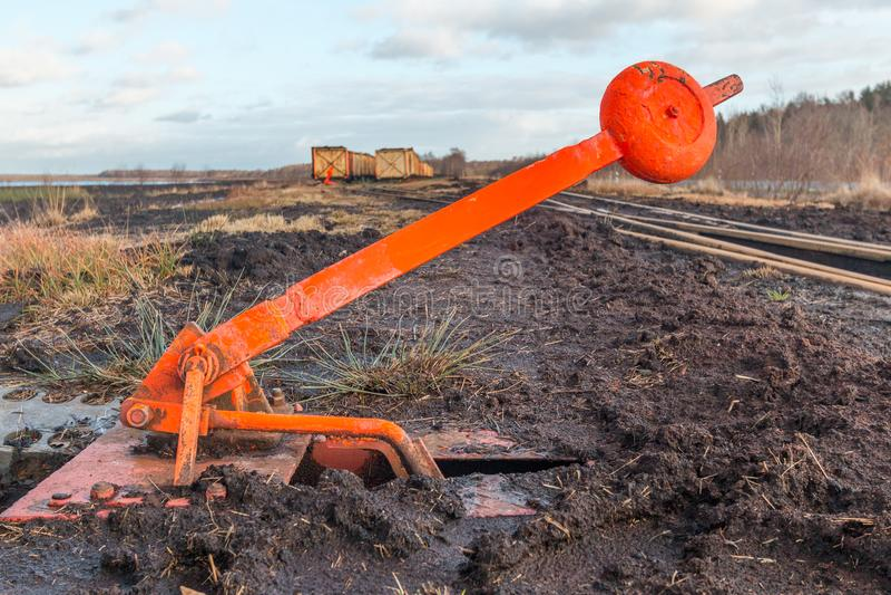 Comute a alavanca de uma estrada de ferro do campo imagem de stock royalty free