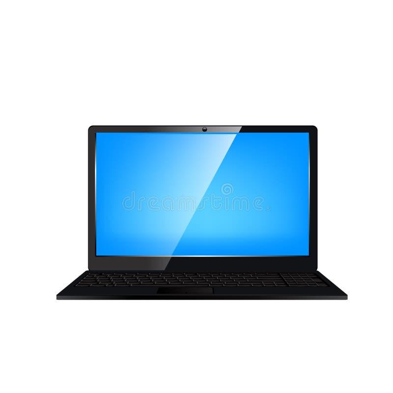 comuter laptop również zwrócić corel ilustracji wektora ilustracji