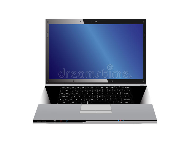 comuter laptop również zwrócić corel ilustracji wektora obrazy royalty free