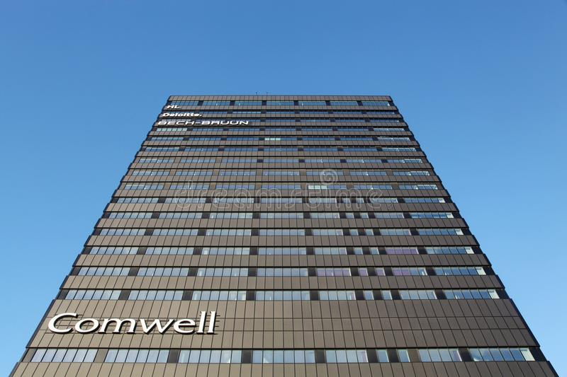 Comwell hotel in Aarhus, Denmark. Aarhus, Denmark - January 25, 2015: The Comwell Hotel is a 4-star conference hotel and hotel is situated on one of the most royalty free stock photo