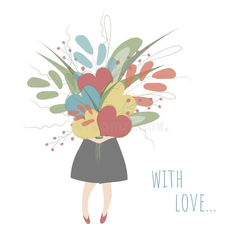 Con amor ilustración del vector