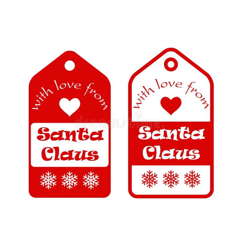 Con amor de Santa Claus - tarjeta ilustración del vector