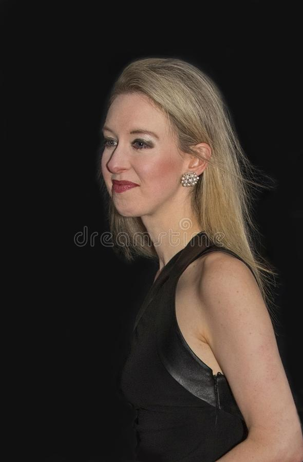 Con Artist Elizabeth Holmes at Time 100 Most Influential People Gala. Health technology entrepreneur and the youngest self-made female billionaire, Elizabeth stock images