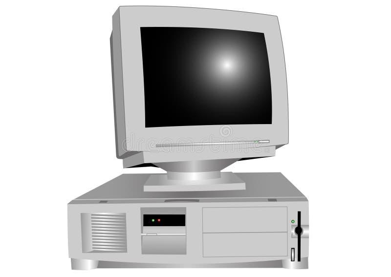 Con computer personale illustrazione vettoriale