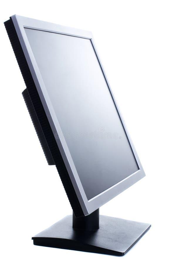 Con computer personale isolato sui precedenti bianchi fotografie stock