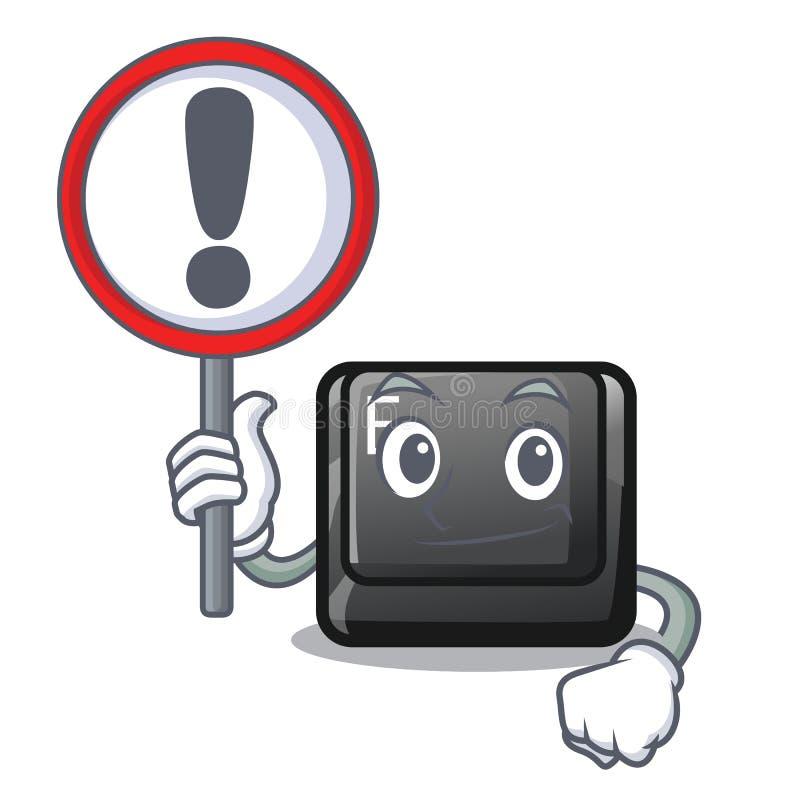 Con el botón de la muestra E aisló con el carácter stock de ilustración