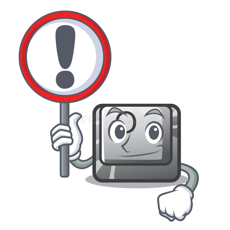 Con el botón de la muestra O aisló en la historieta stock de ilustración