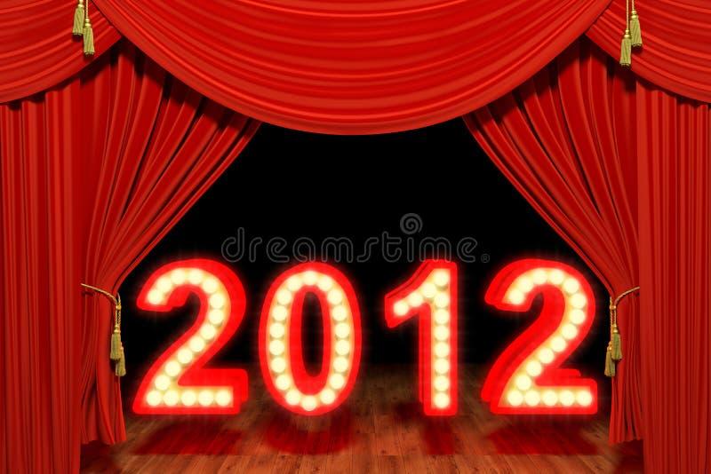 2012 con el teatro rojo de la etapa cubre libre illustration