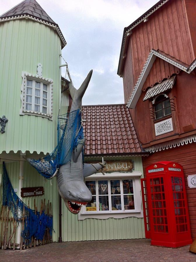 Con el tiburón fotografía de archivo