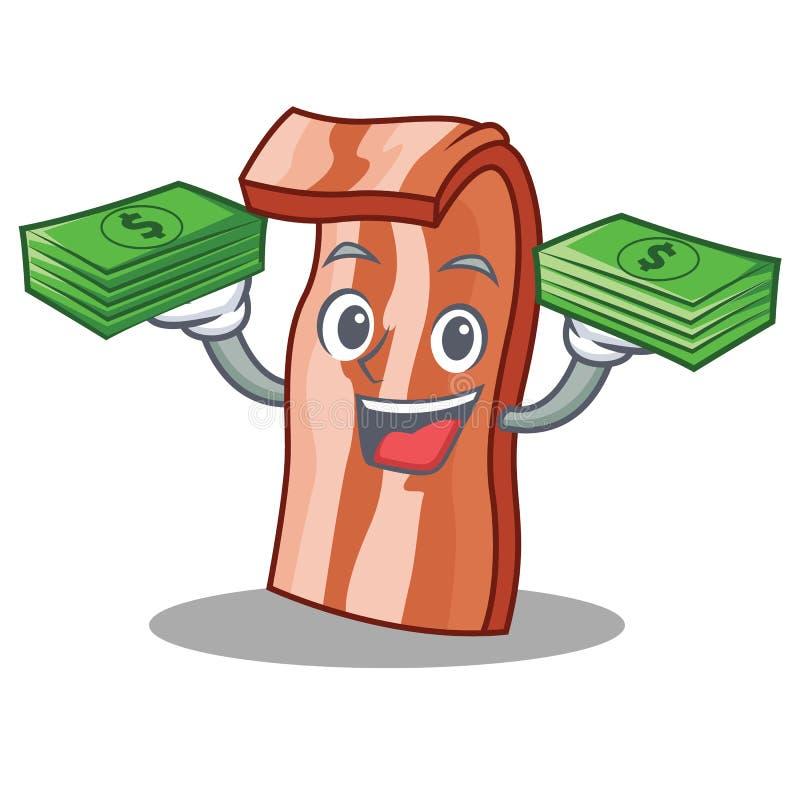 Con estilo de la historieta de la mascota del tocino del dinero libre illustration