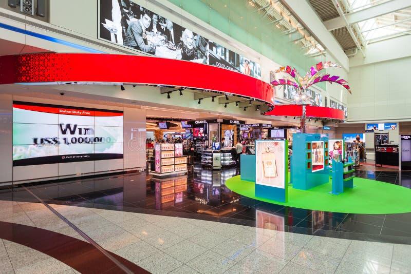 Con franquicia, aeropuerto de Dubai International fotografía de archivo libre de regalías
