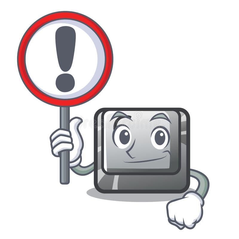 Con il bottone C del segno su un carattere della tastiera royalty illustrazione gratis