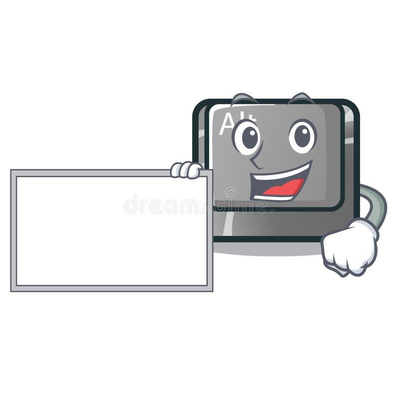Con il bottone del bordo alt nella forma del fumetto illustrazione di stock