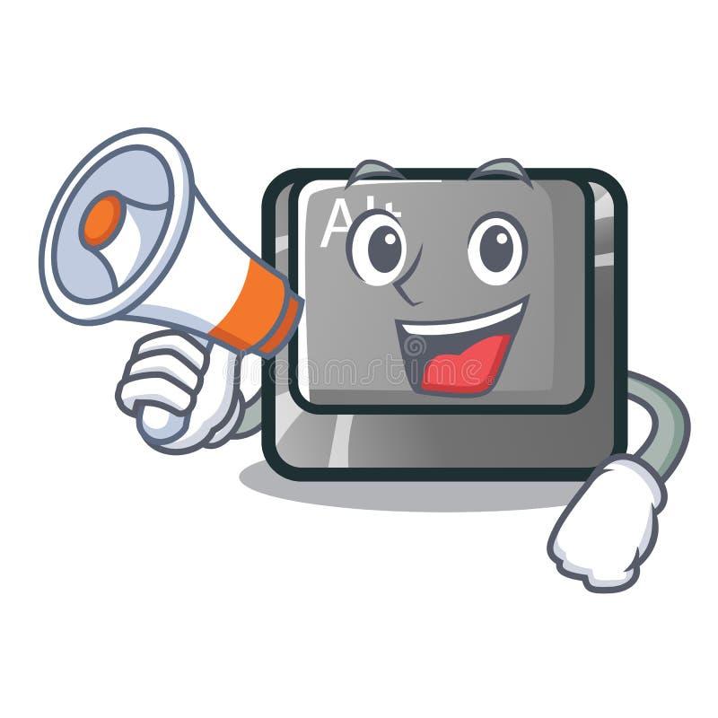 Con il bottone del megafono alt nella forma del fumetto royalty illustrazione gratis