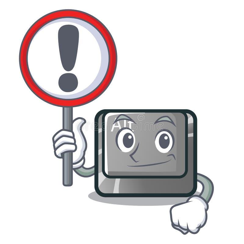 Con il bottone del segno alt nella forma del fumetto illustrazione vettoriale