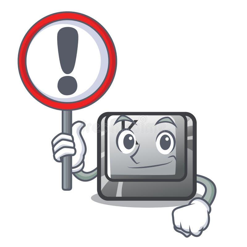 Con il bottone del segno K ha isolato con la mascotte illustrazione vettoriale