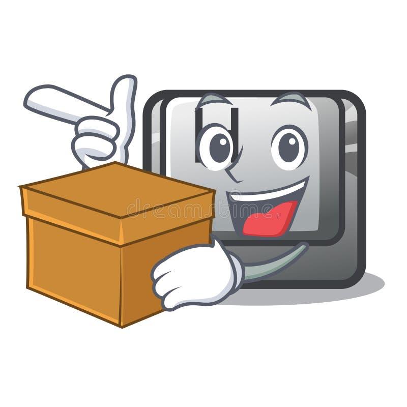 Con il bottone H della scatola nel fumetto di forma illustrazione vettoriale