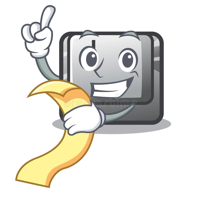 Con il bottone I del menu nel gioco del fumetto illustrazione di stock