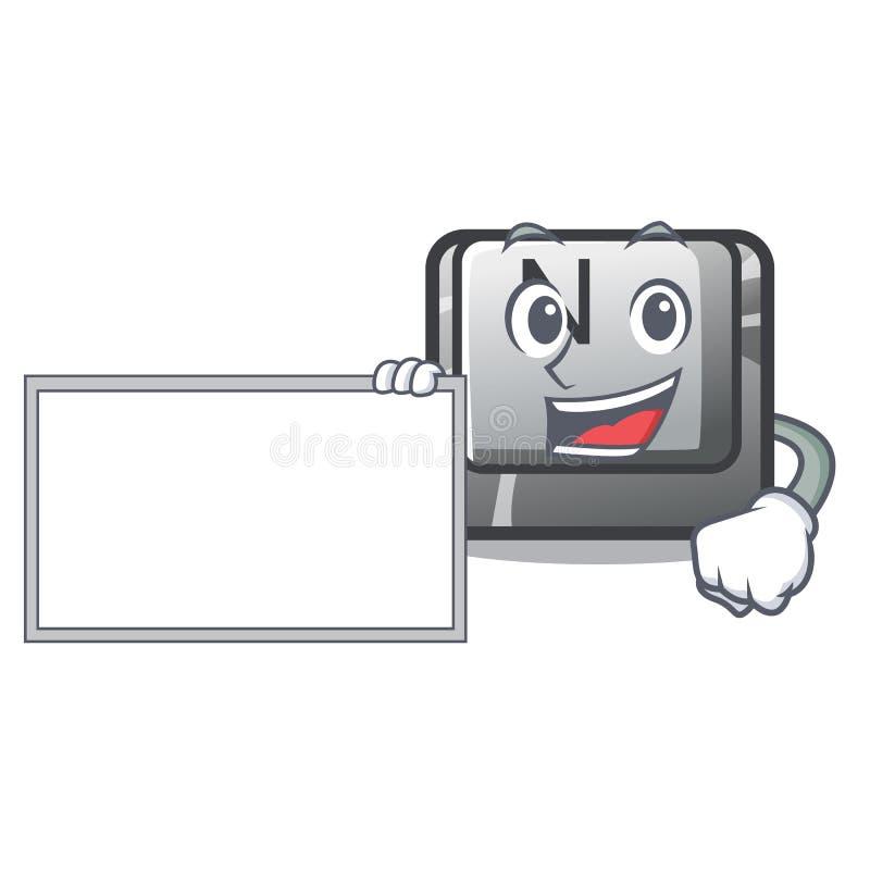 Con il bottone N del bordo su un carattere del gioco illustrazione vettoriale