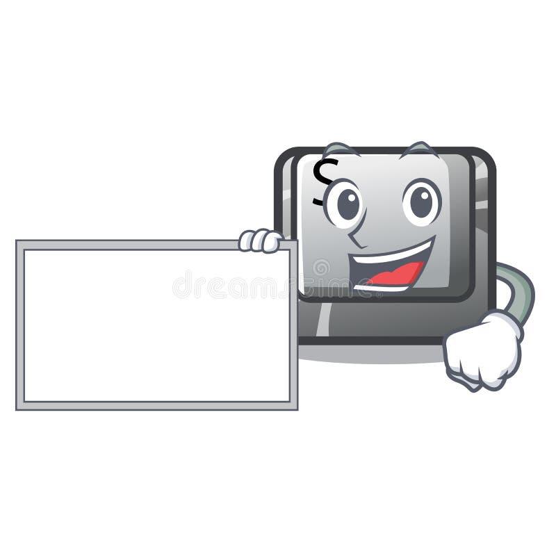 Con il bottone S del bordo nella forma del fumetto royalty illustrazione gratis
