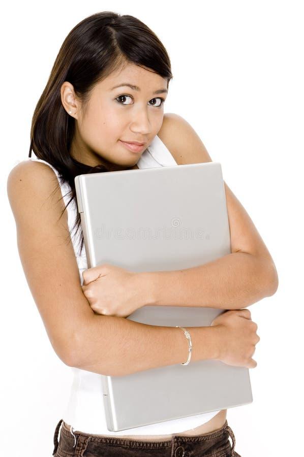 Con il computer portatile fotografie stock libere da diritti