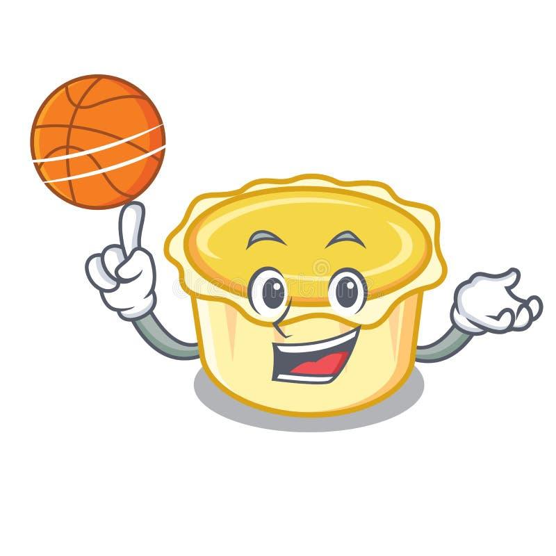 Con il fumetto acido del carattere dell'uovo di pallacanestro illustrazione vettoriale