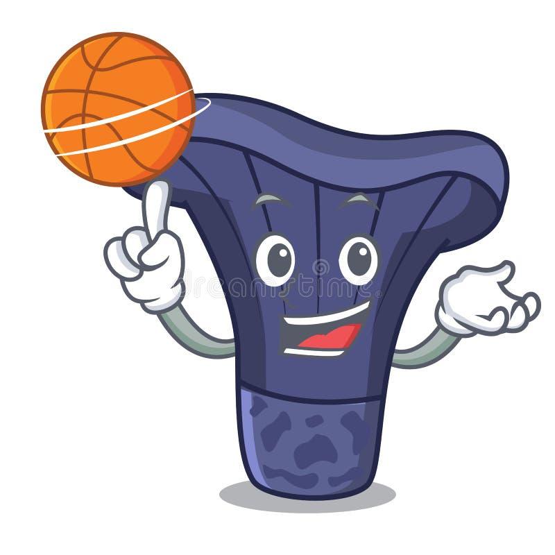Con il fumetto del carattere del fungo dell'indaco di actarius di pallacanestro royalty illustrazione gratis