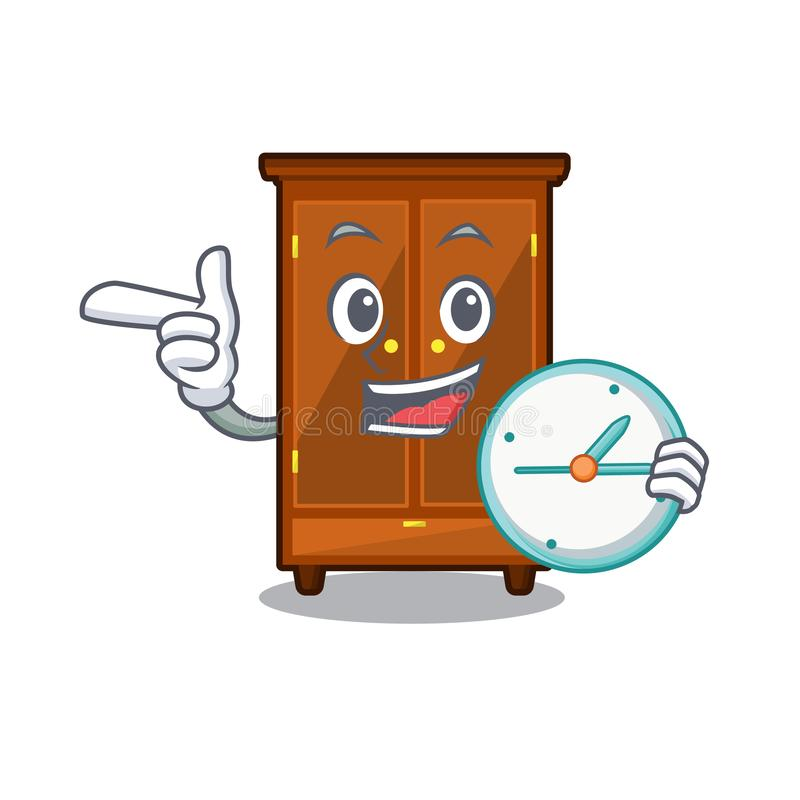 Con il guardaroba dell'orologio nella forma di carattere di a illustrazione vettoriale