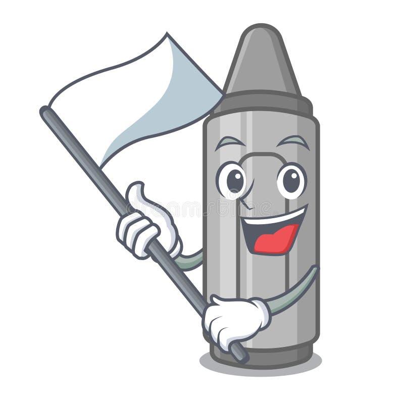 Con il pastello grigio della bandiera in un fumetto della borsa royalty illustrazione gratis