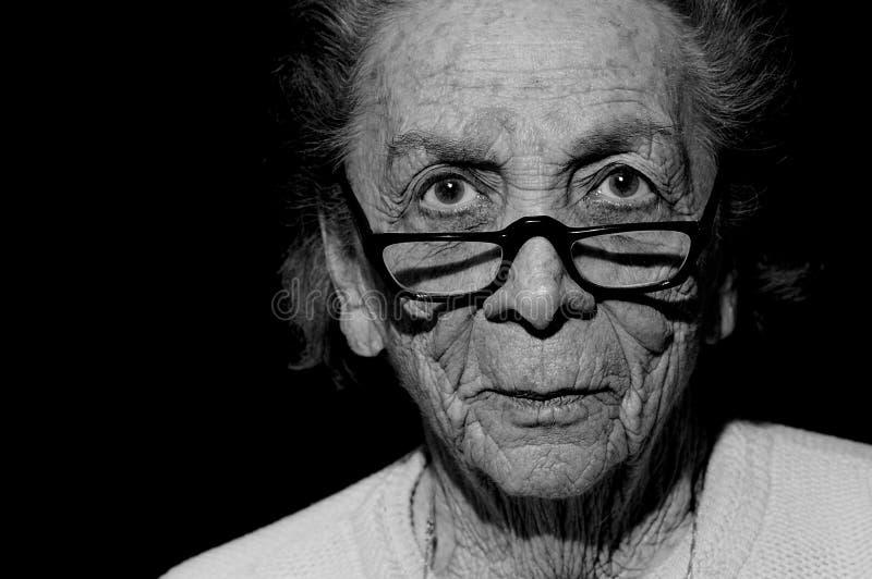 Con l'età viene la saggezza fotografie stock