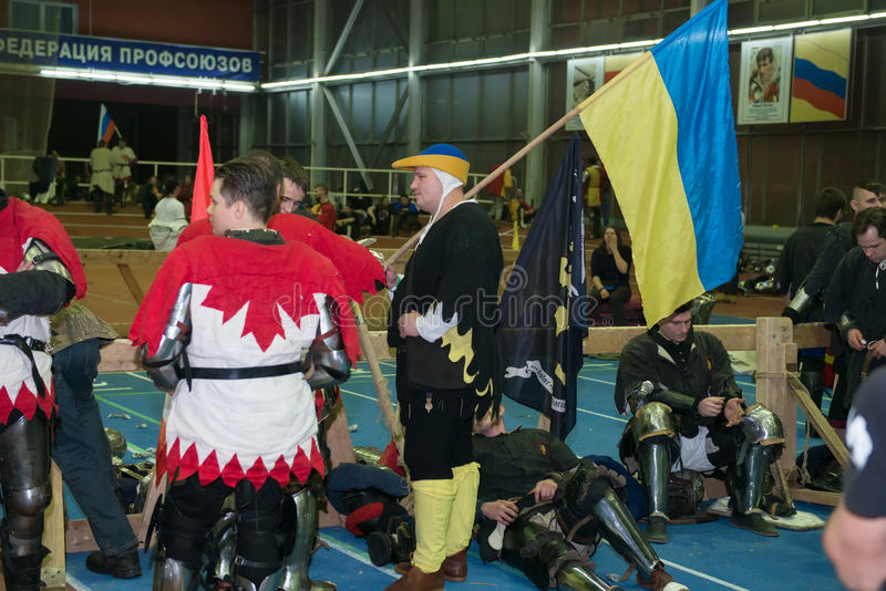 Con la bandera de Ucrania fotografía de archivo libre de regalías