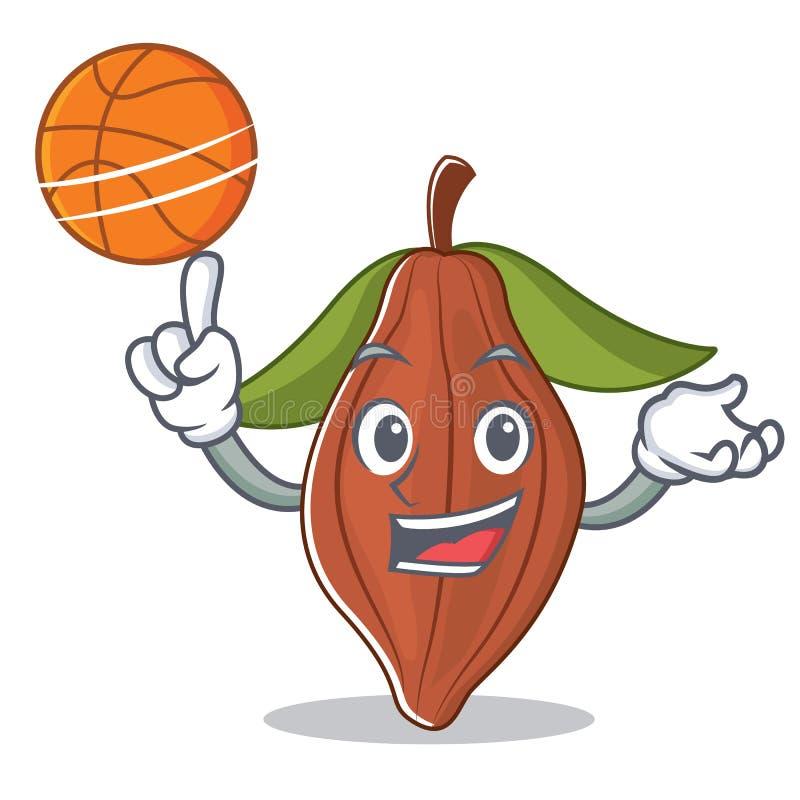 Con la historieta del carácter de la haba del cacao del baloncesto libre illustration