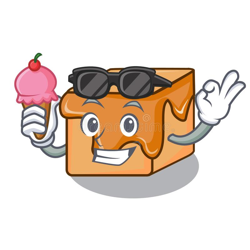 Con la historieta del carácter de los caramelos del caramelo del helado ilustración del vector