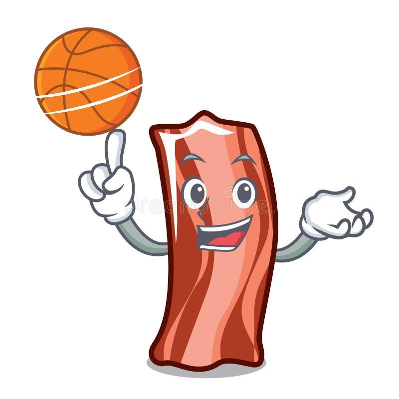 Con pallacanestro ribs lo stile del fumetto del carattere royalty illustrazione gratis