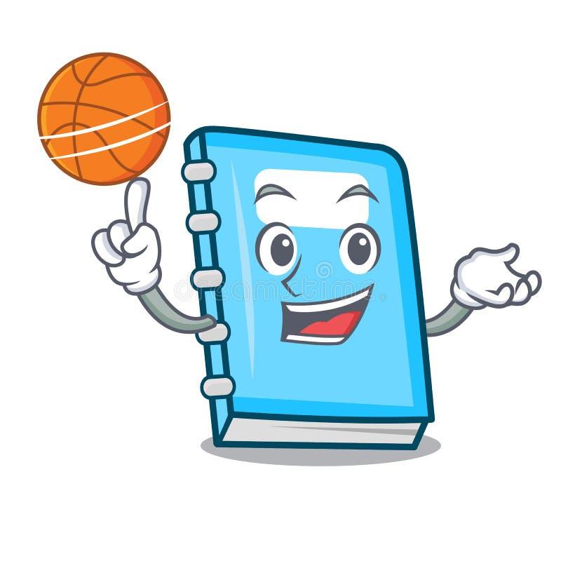 Con stile del fumetto del carattere di istruzione di pallacanestro illustrazione vettoriale