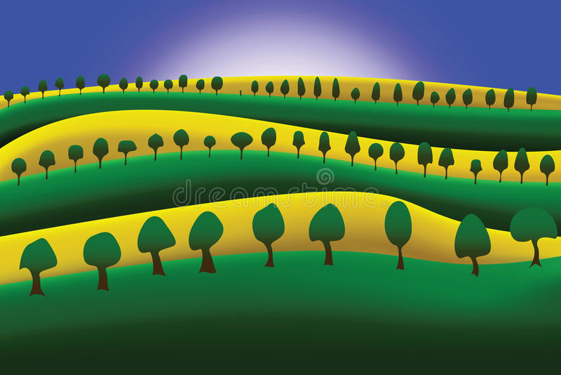 Conala crop field - vector stock photography